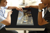 EKAA Waterproof LED Capacitive Multi Points Interactive Touch Screen Table