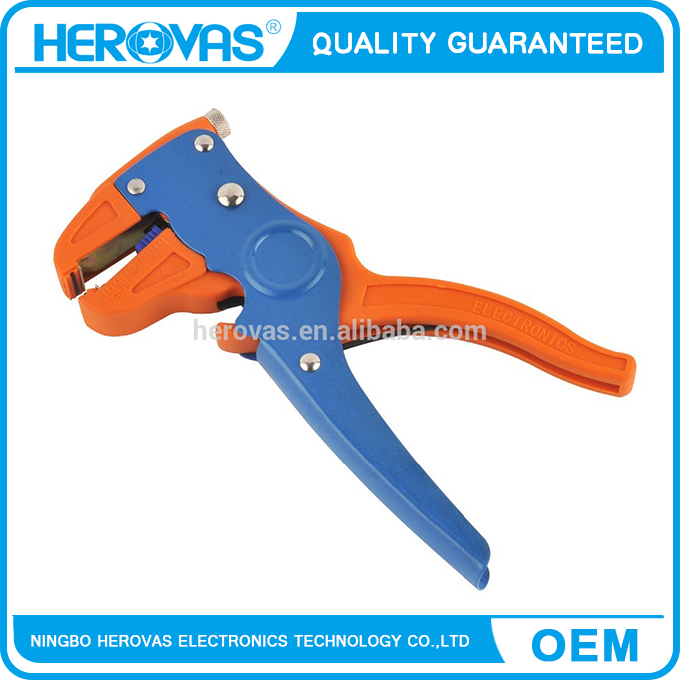 electric wire stripper 7inch, automatic wire stripper with adjustable button