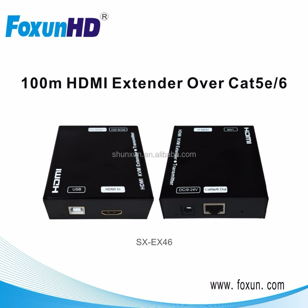 HDMI USB Extender over 60m CAT5/6, Support Full HD 1080P