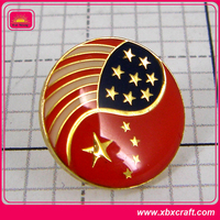 Hot sell customized pocket metal logo lapel pin badge button maker