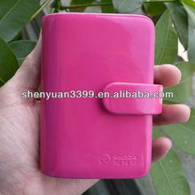 fashion shiny PU leather girl woman lady business credit card case manufacturer in Dongguan