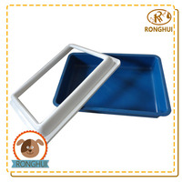 pp plastic sand box for colored cat litter