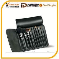 2014 hot selling high quality best leather makeup brush organizer