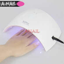 Better SUNUV SUN9c 24W Sensor Curing Nail dryer for All Gels with 30s/60s button Perfect Thumb Solution UV LED Nail lamp
