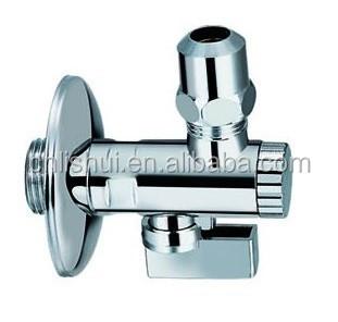 "Polished Chrome Plated Brass Angle Valve with Filter(with long nut 3/8""*10mm)"