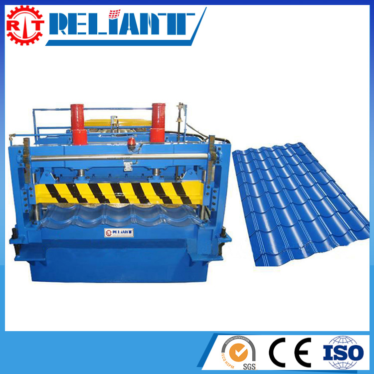 Energy Saving Metal Roll Forming Machine For Roof Tile With High Efficiency