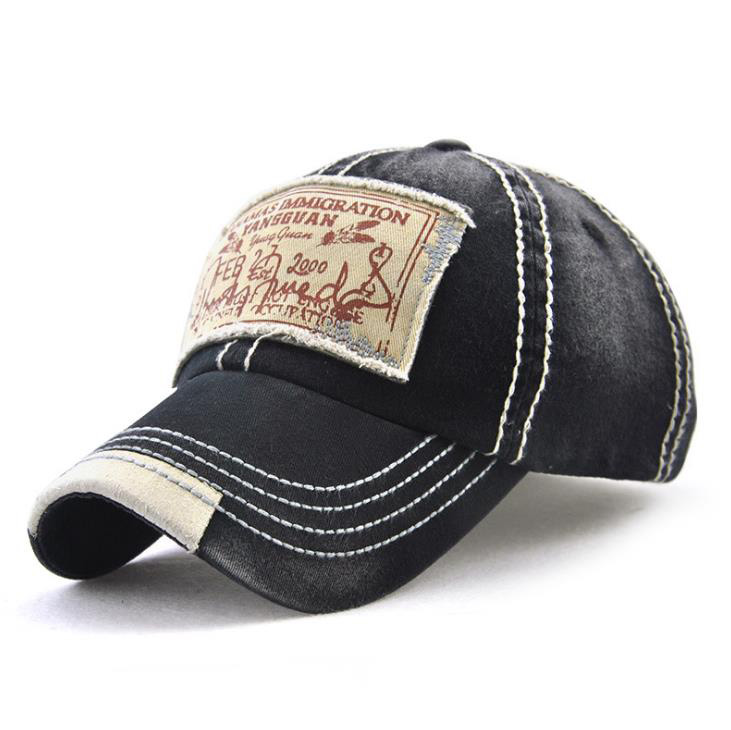 wholesale small order stock New Korean trend cotton retro print patch embroidered baseball cap