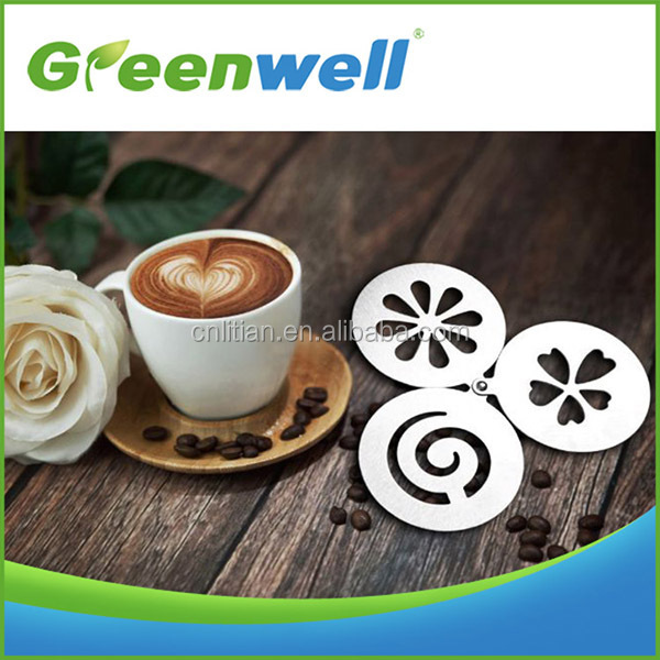 stainless steel coffee stencils