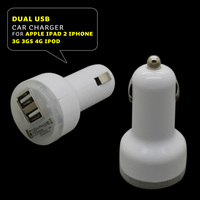 USB Car Charger cable 5V 2A 2100Ma Dual 2Port USB Car Charger for Sansung S3 S4 HTC Apple Iphone 5 iPad 2 iPhone 3G 3GS 4g ipod