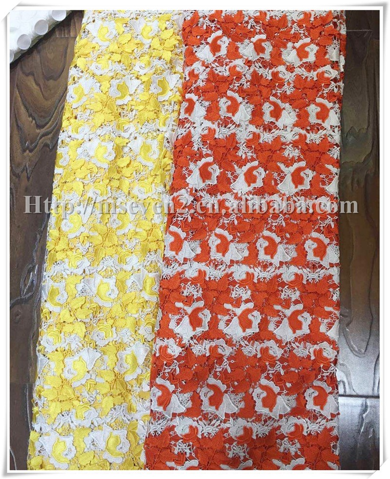 New arrival beautiful Floral dress designs chiffon fabric for wedding dress