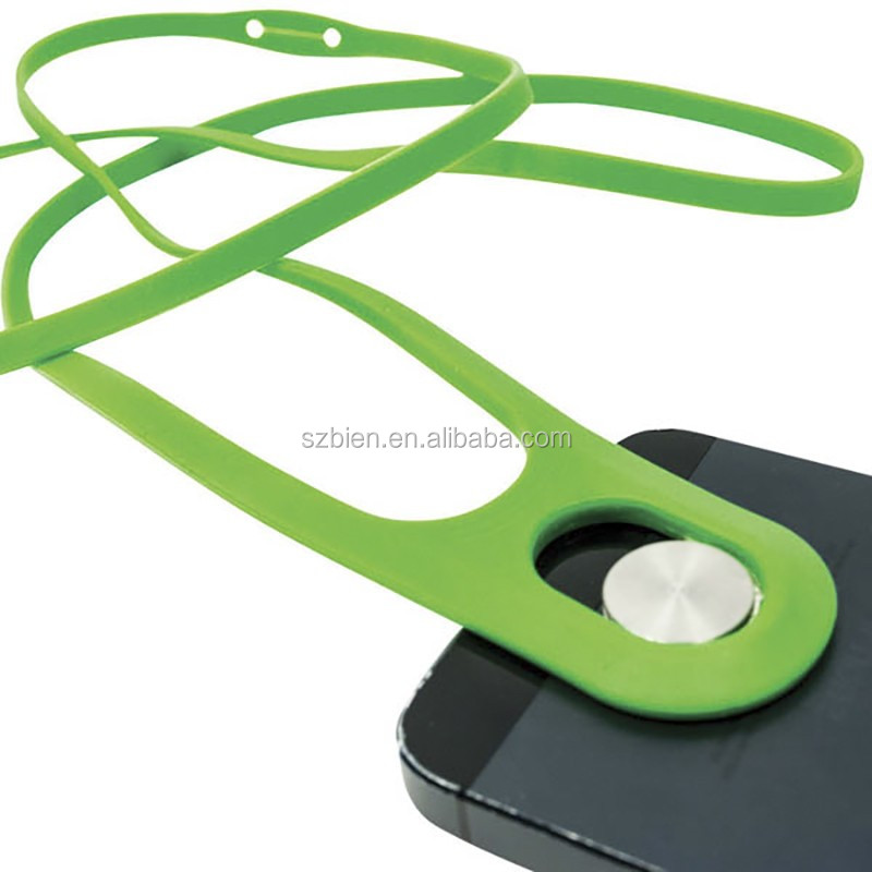 Mobile Phone lanyard hook, silicone cell phone safe lanyard to protect phone from beening stolen for Samsung/iphone