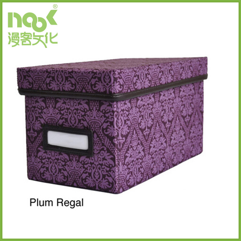 non woven decorative box plum regal with mark notes and cover