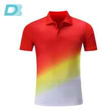 Custom Latest Design Men's Embroider Striped Polo Rugby Shirt