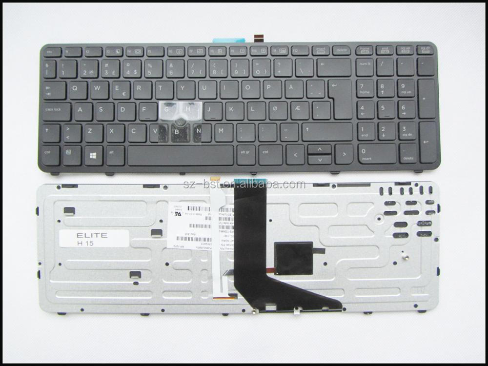 Original New For HP Zbook 15 G2 17 G2 with backlit and Mouse Point Nordic Norwegian Norsk NW Teclado keyboard