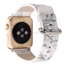 Replacement Watchbands for iWatch, Fashion Design White Marble Leather Strap WristBand for apple watch