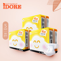 IDORE Thinner Enjoy Cute Colored Disposable Baby Diapers/Nappies Manufacturer in China