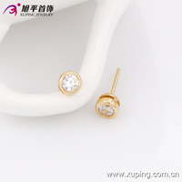 xuping fashion jewelry russia hoop earrings with18k gold color plated gold earring 90150