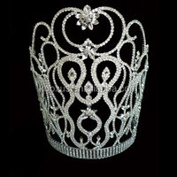 2016 China Supplier Cheap Large Tall Miss Beauty Pageant Tiara Crown