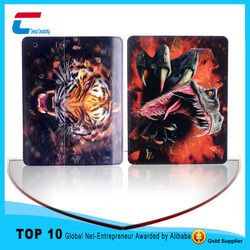 PU leather flip animal shape cartoon printing case for iPad 2 3 4