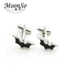 Wholesale European high quality fashion electroplate bat-shape cufflinks for man/women AC5623L MOONSO