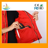 2600mA Li-on battery heating vest,heating and warmer body