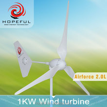 1KW High efficiency Variable Pitch Wind Turbine electric generating windmills for sale