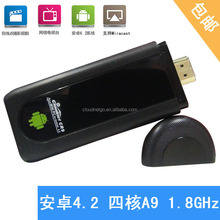 andriod tv dongle CR9S Andriod RK3188 Quad core ARMA9 TV box support AV HD 3G Dongle MINI PC