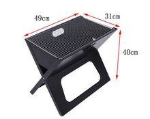 Foldable fire sense notebook charcoal bbq grill,Outdoor folding steel fire pit for picnic,Notebook Portable BBQ