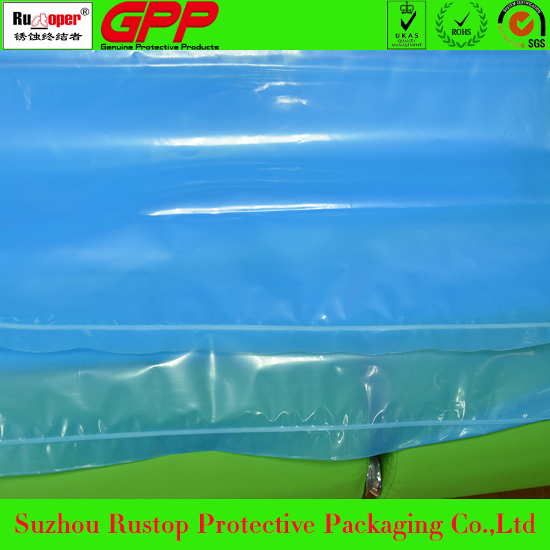 VCI rust protective recloseable pe slider zipper bags