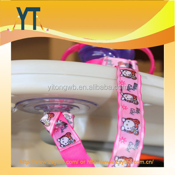 Cute Pink Color Pattern Girl Baby Sippy Cup/Water Bottle Holder/Baby Drinking Cup Holder Lanyard