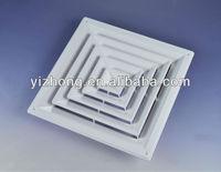 Plastic square air ceiling diffuser for HVAC