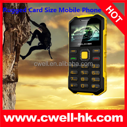 Melrose S2 Rugged Card Size Mobile Phone FM Radio Ultra slim mobile phone