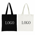 Custom cheap printed cotton canvas bags with print logo