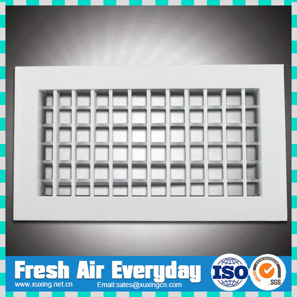 hvac ventilation aluminum double deflection supply air filter grille air ventil grill for door