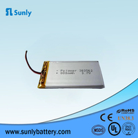 Model 383562 3.7V 800mAh rechargeable lithium polymer battery for digital camera
