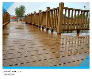 WPC wood plastic composite handrails for outdoor steps