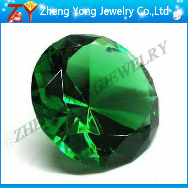 Round brilliant cut cz/Synthetic emerald price per carat