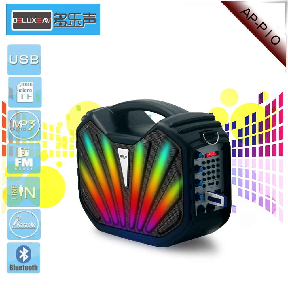 Dj Bass Sound Box Portable Bluetooth Speaker,Perfect Sound,Fm Radio Mini Bluetooth Speaker,Play Music