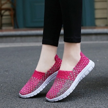 2017 Comfortable hand manufacturers Fabric Women Woven Shoes