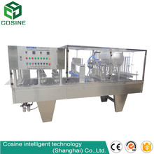 Yogurt cup aluminium foil lid filling sealing machine