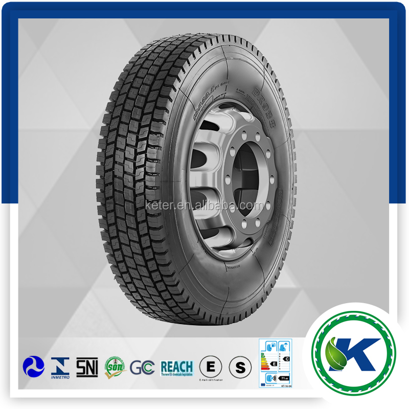 Double hapiness 12R22.5-16 drive pattern truck tyre