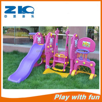 hot sale rabbit plastic slide and swing on sell