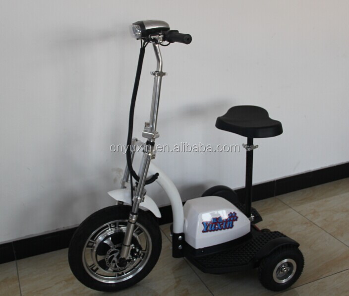 New Design 48V 500W Brushless Motor 3 Wheel Electric Tricycle Zappy Scooter with CE