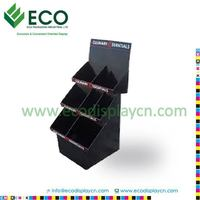 Advertising cardboard PDQ display stand , paper floor display rack for led light