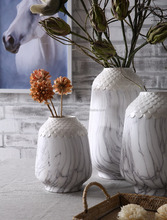 New product Big ceramic flower vase painting designs for table / home decor wholesale