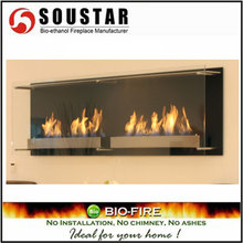 Hot New Design AF-05-120S, wall mount ethanol gas log fireplace