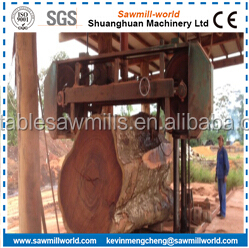MJ2000 Big Horizontal Hard Log Sawing Band Sawmill For Sale