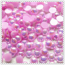 Delicate Pink Acrylic Pearl Beads For Table Decoration