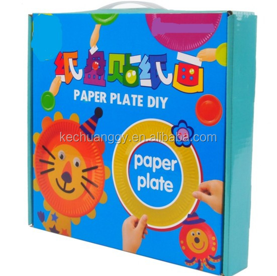 DIY Paper Plate Art for halloween party supply, funny party hats