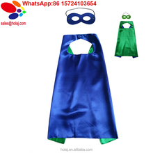 Comics Cartoon Dress Up Costumes Satin Capes halloween costume with Felt Masks for girls